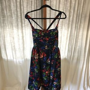 Anthropologie HD in Paris Navy Floral Corduroy.